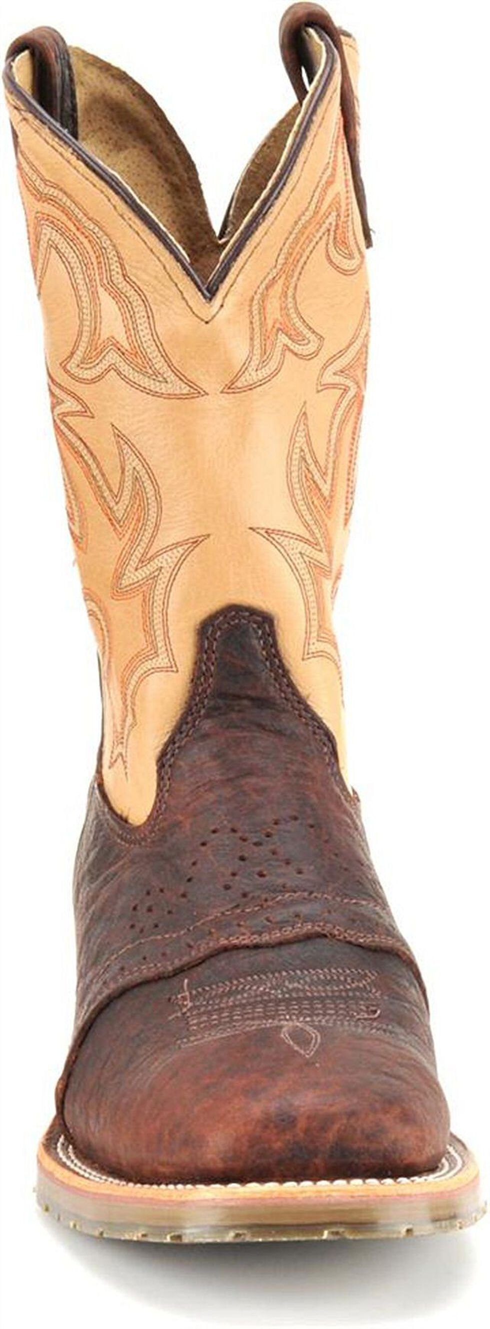 Double H Ice Oak Saddle Work Boots - Steel Toe, Bison, hi-res
