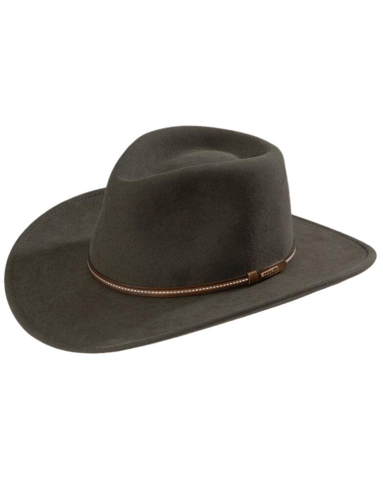Stetson Men's Gallatin Sage Green Crushable Wool Felt Hat, Sage, hi-res