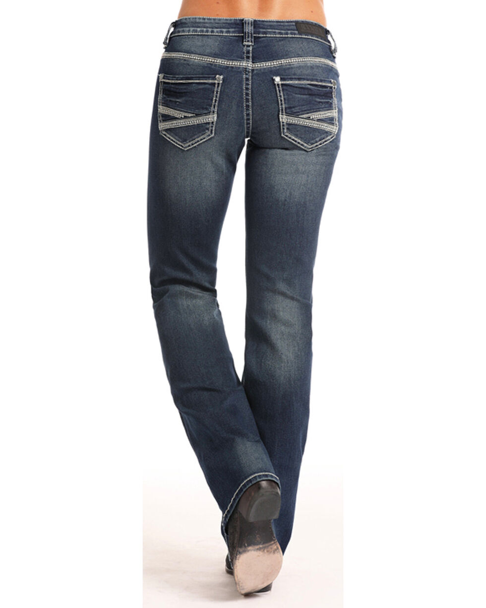 Rock & Roll Cowgirl Women's Coolmax Riding Jeans - Boot Cut  , , hi-res
