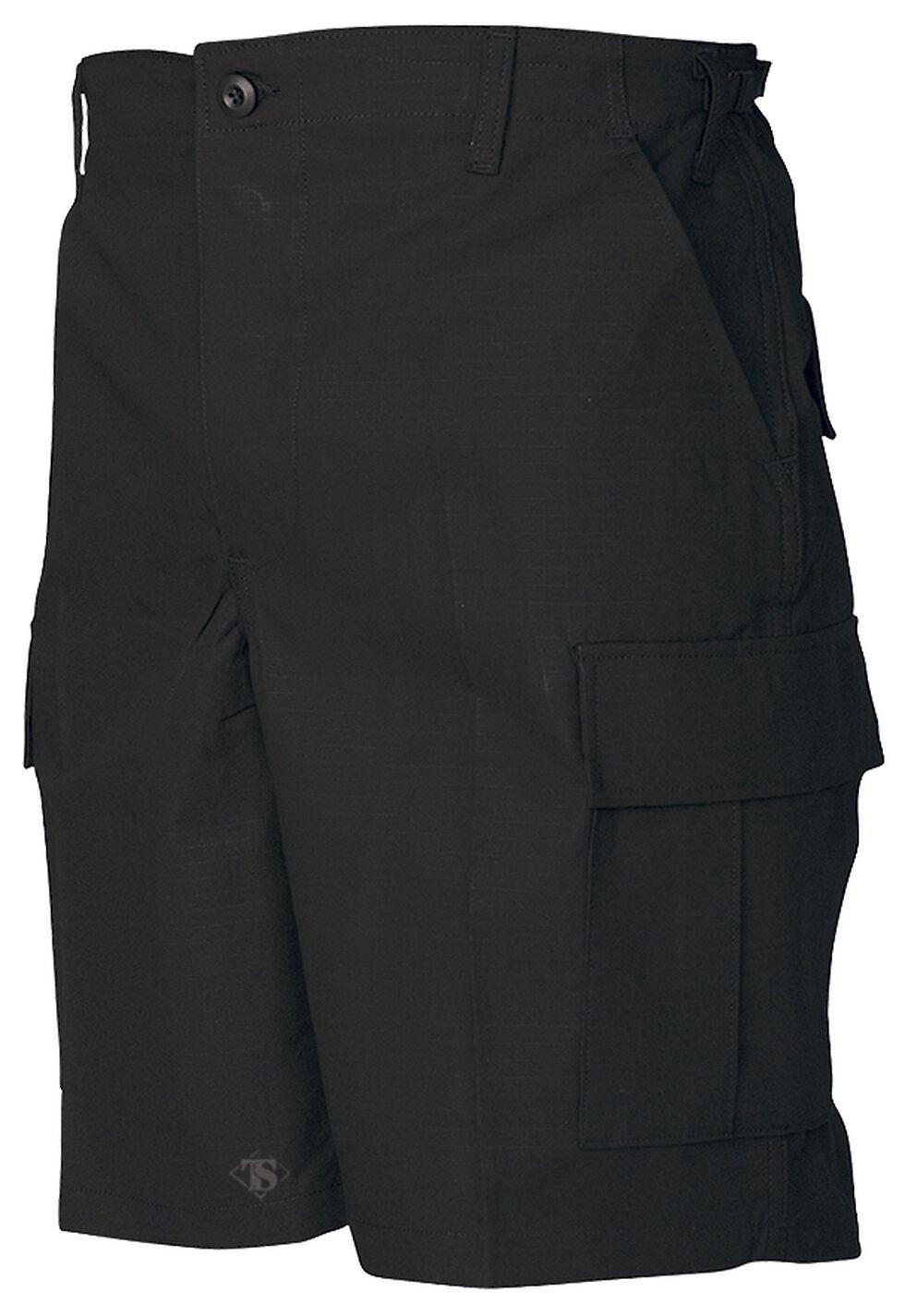 Tru-Spec Men's Black BDU Shorts, Black, hi-res