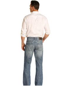 Rock & Roll Cowboy Men's Cannon Light Loose Bootcut Jeans , Blue, hi-res