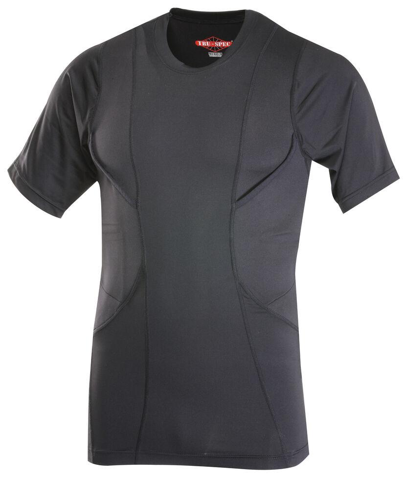 Tru-Spec Men's 24-7 Short Sleeve Concealed Holster Shirt, Black, hi-res