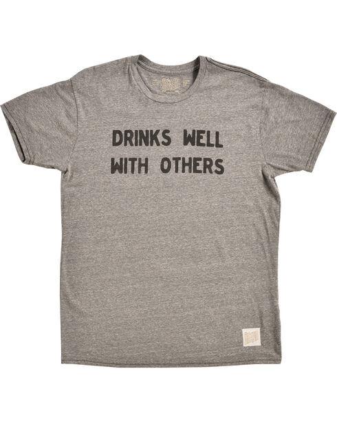 Original Retro Brand Men's Drinks Well With Others Tee, Grey, hi-res