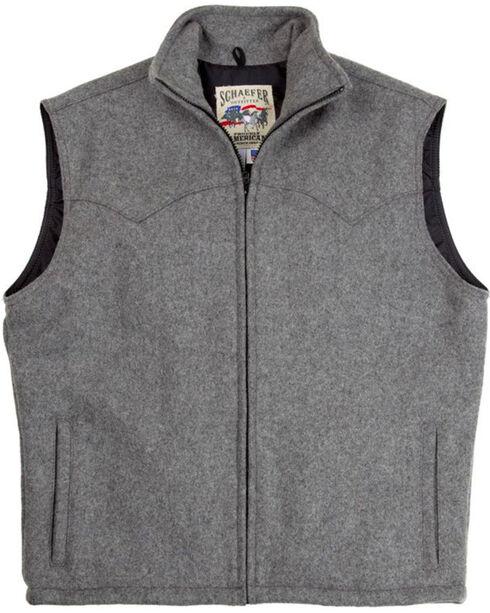 Schaefer Men's Heather Grey Arena Melton Wool Vest, Grey, hi-res