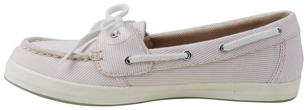 Eastland Women's Camel Stripe Skip Canvas Boat Shoe Slip-Ons , , hi-res