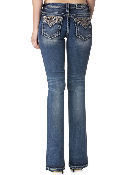 Miss Me Women's Indigo Enchanted Beauty Jeans - Boot Cut , Indigo, hi-res