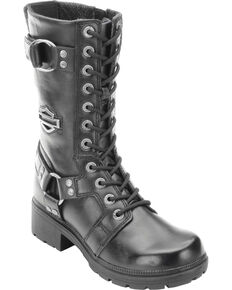 19d9b3591491 Harley Davidson Womens Eda Lace-Up Harness Boots