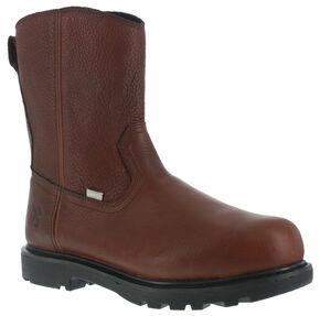 Iron Age Men's Hauler Wellington Side-Zipper Work Boots - Composite Toe , Brown, hi-res