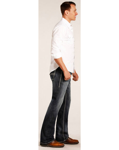 """Rock & Roll Cowboy Men's Small """"V"""" Reflex Pistol Jeans - Boot Cut , Indigo, hi-res"""