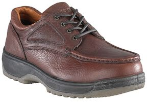 Florsheim Women's Compadre Oxford Work Shoes - Steel Toe, Brown, hi-res