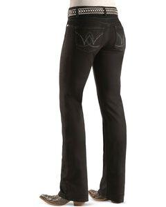 """Wrangler Jeans - Booty Up Black Wash - 30""""-36"""", Black, hi-res"""