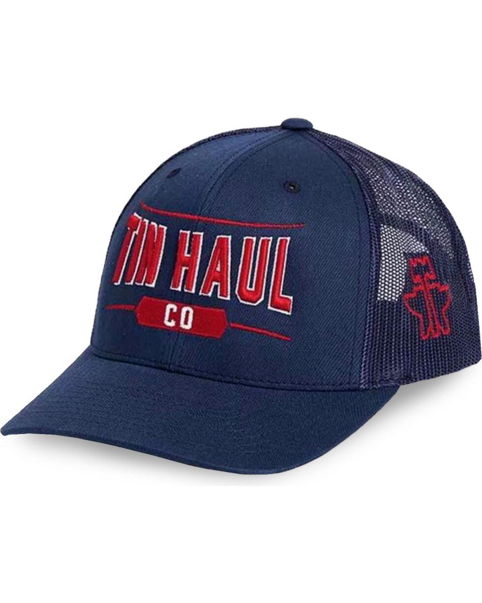 Tin Haul Men's Navy Co. Mesh Back Baseball Cap , Navy, hi-res