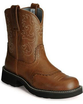 Ariat Fatbaby Cowgirl Boots, Saddle Brown, hi-res