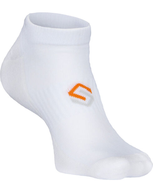 Scentlok Technologies Men's White Ultra Light No Show Socks, White, hi-res