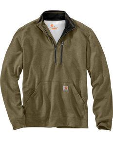 Carhartt Men's Force Extremes Mock-Neck Half-Zip Pullover, Olive, hi-res