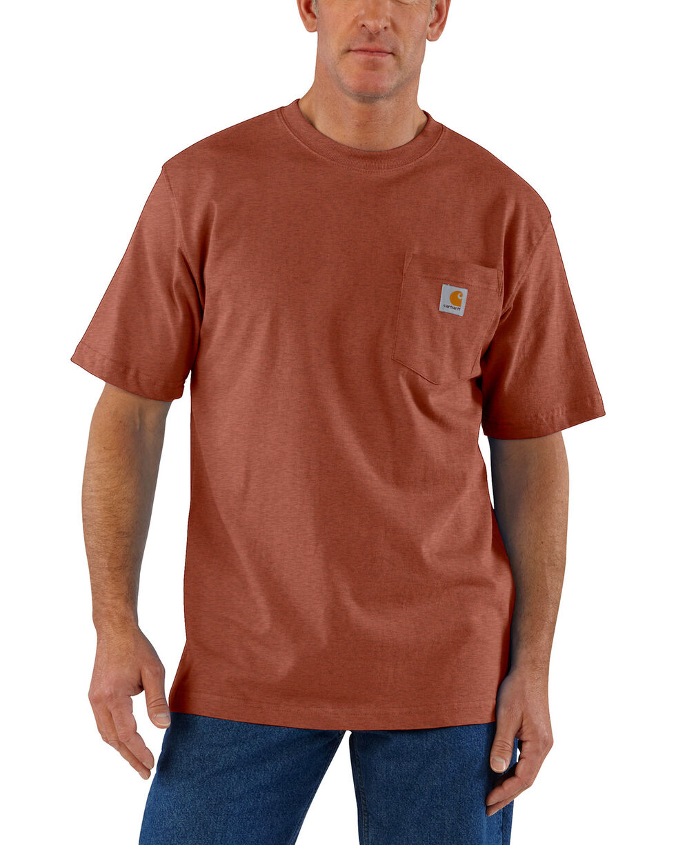 Carhartt Men's Sequoia Heather Workwear Pocket T-Shirt, Brown, hi-res