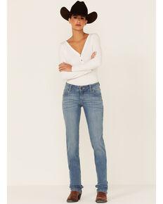 Wrangler Women's Brianna Light Wash Straight Leg Jeans , Light Blue, hi-res