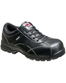 Avenger Women's Black Oxford Work Shoes - Composite Toe, Black, hi-res