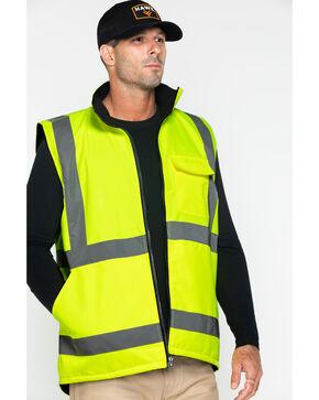 Hawx Men's Reversible Work Vest, Yellow, hi-res