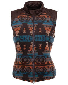 Outback Trading Co. Women's Brown Aztec Maybelle Vest , Multi, hi-res
