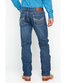 Rock 47 by Wrangler Men's Doo Wop Slim Straight Jeans, Blue, hi-res
