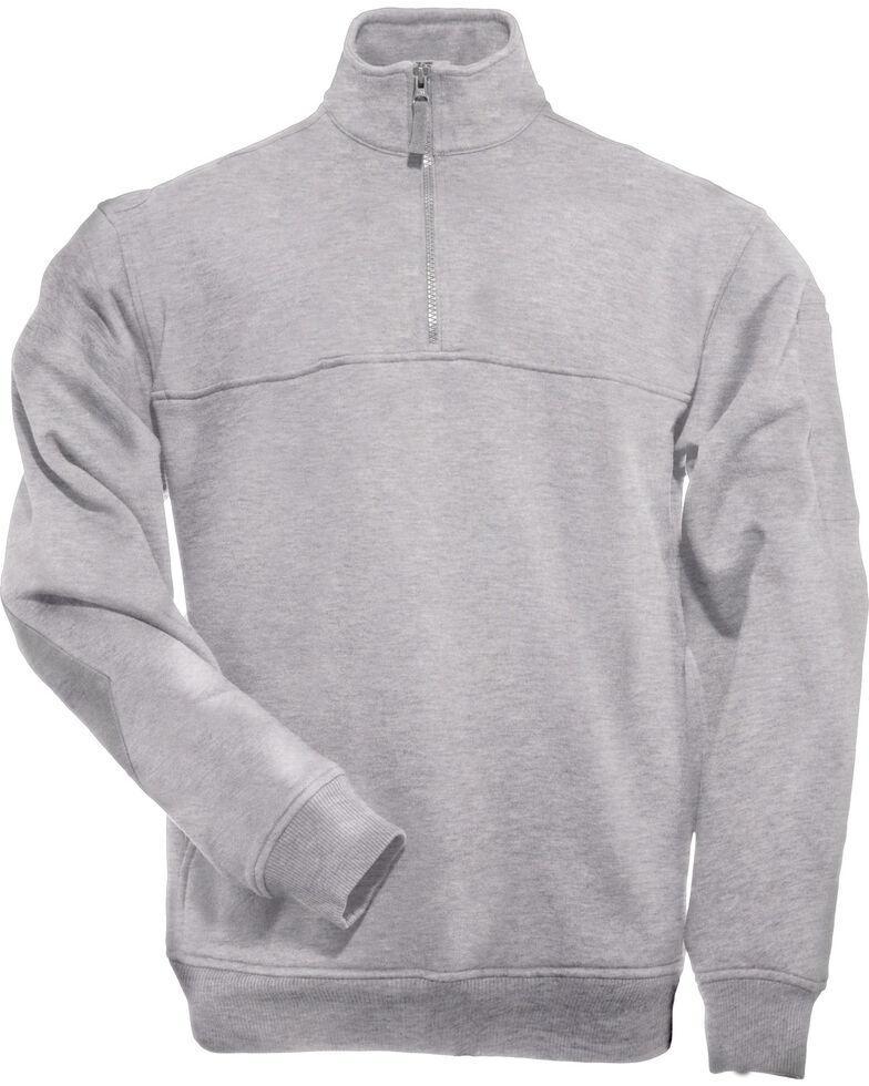 5.11 Tactical Quarter Zip Job Shirt, Hthr Grey, hi-res