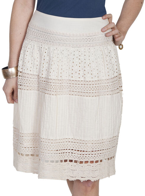 Scully Honey Creek Multi Panel Short Skirt, Ivory, hi-res