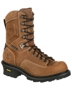 Georgia Boot Men's Comfort Core Waterproof Insulated Logger Boots - Composite Toe, Brown, hi-res