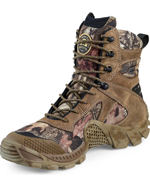 "Red Wing Irish Setter Mossy Oak Vaprtrek Waterproof 8"" Boots , Camouflage, hi-res"