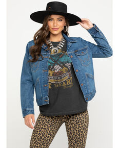 131b9fba0fb Wrangler Womens Modern Denim Jacket, Indigo, hi-res