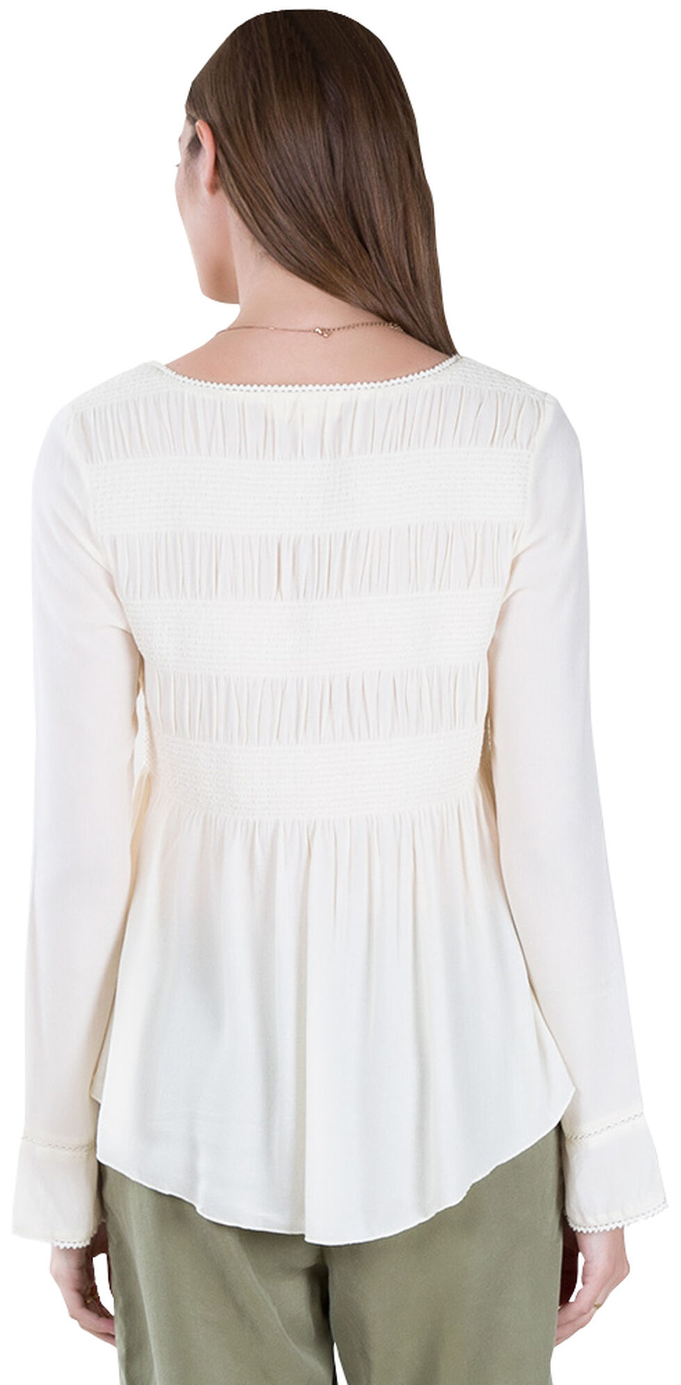 Black Swan Women's Lucie White Peasant Top , White, hi-res