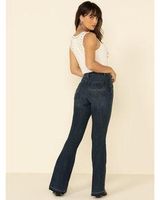 Idyllwind Women's Daredevil High Risin' Fit Flare Jeans, Dark Blue, hi-res
