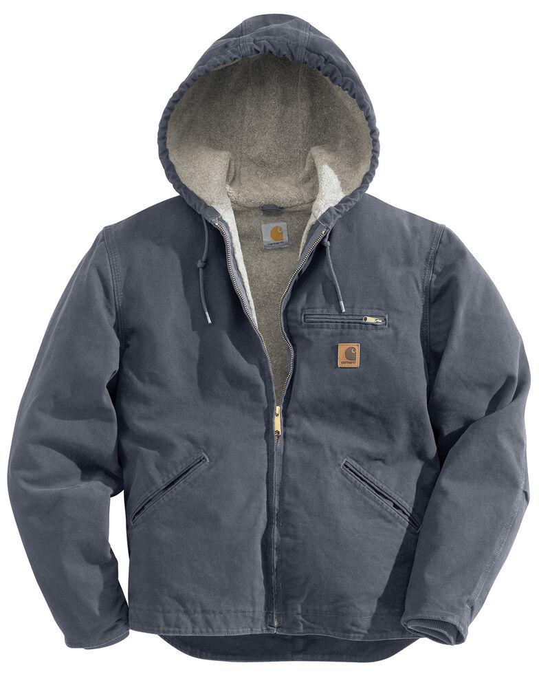 Carhartt Men's Sierra Sherpa Lined Work Jacket - Big & Tall, Grey, hi-res