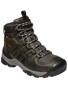 Keen Men's Gypsum II Waterproof Hiking Boots - Soft Toe, Dark Brown, hi-res