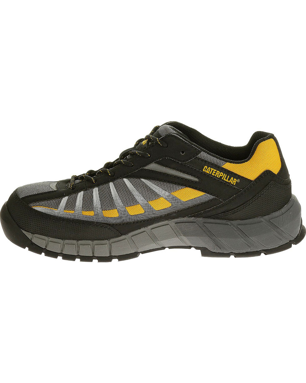 Caterpillar Men's Infrastructure Grey Work Shoes - Steel Toe , Grey, hi-res