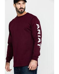 Ariat Men's Grape FR Electric Graphic Long Sleeve Work T-Shirt , Grape, hi-res