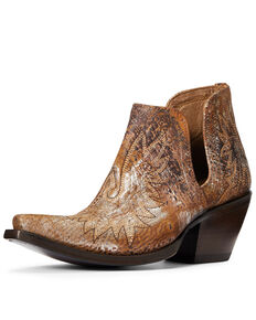 Ariat Women's Silver Dixon Fashion Booties - Snip Toe, Brown, hi-res