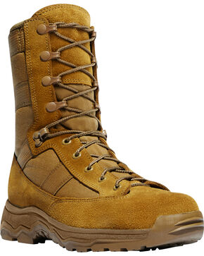 "Danner Men's Coyote Hot 8"" Reckoning Tactical Boots - Round Toe, Sand, hi-res"