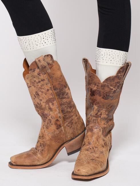 Darby's Women's Roxy Rhinestone Cuff Boot Tights, , hi-res