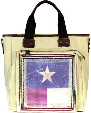 Montana West Women's Vintage Texas Pride Conceal Carry Tote , Beige/khaki, hi-res