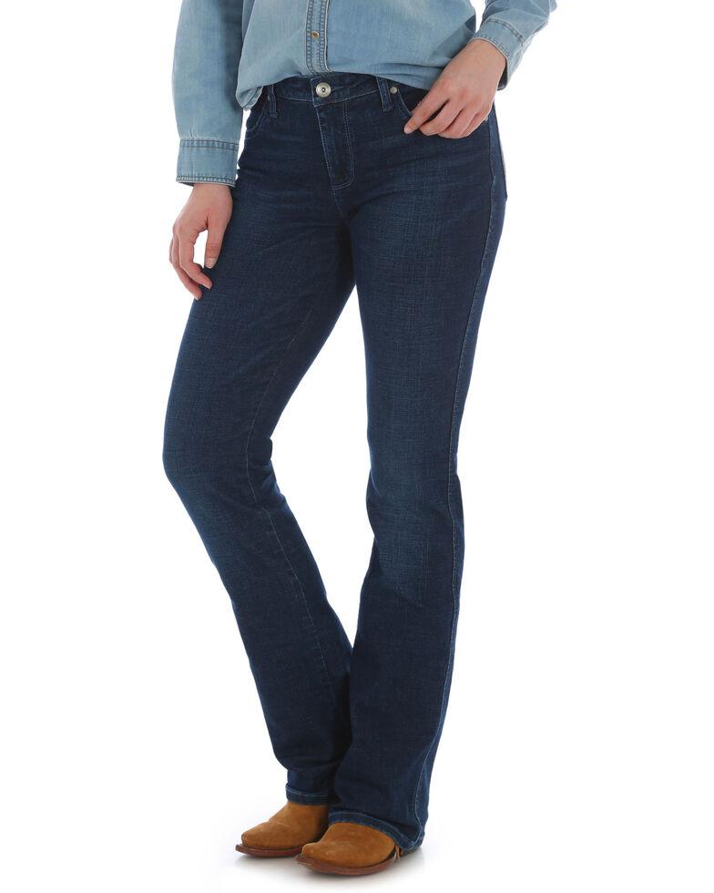Wrangler Women's Aura Low-Rise Boot Cut Jeans, Indigo, hi-res