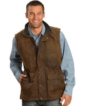 Outback Trading Co. Deer Hunter Oilskin Vest, Brown, hi-res