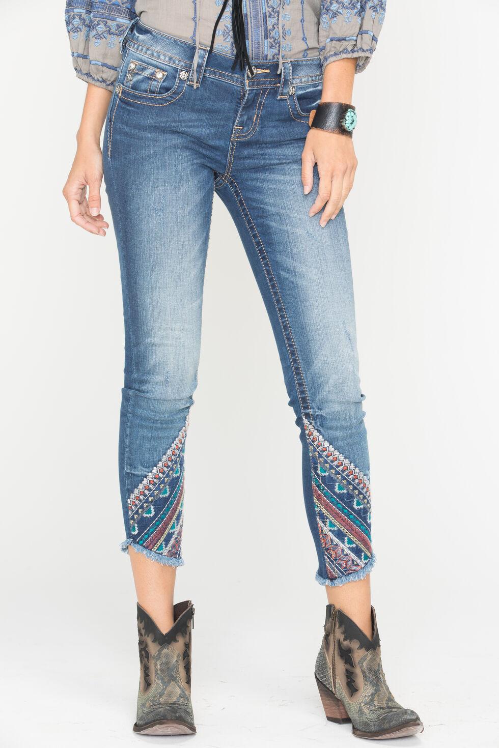 Miss Me Women's Gypsy Tales Ankle Skinny Jeans, Indigo, hi-res