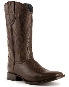 Ferrini Men's Jackson Western Boots - Square Toe, Chocolate, hi-res