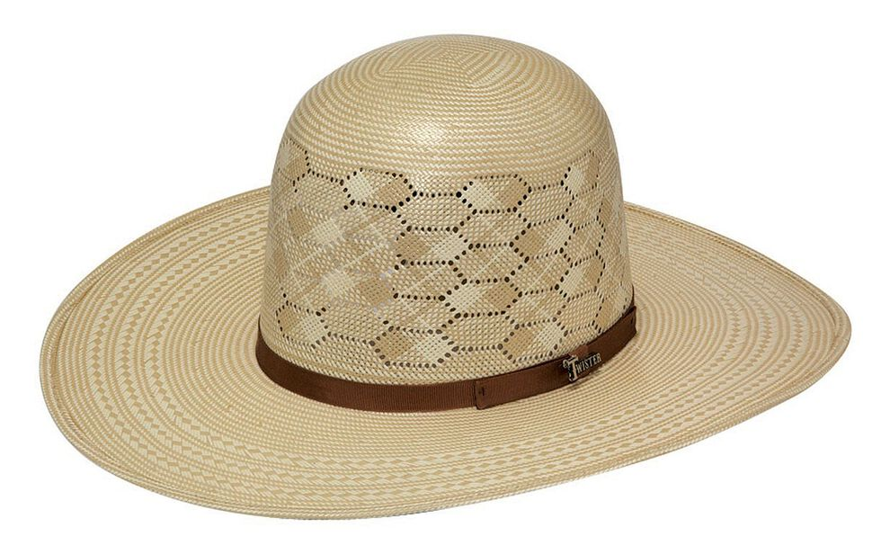 Twister 10X Shantung Open Crown Straw Cowboy Hat 60c7c181168