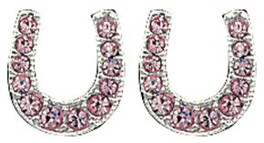 Montana Silversmiths Pink Ice Stuck on Luck Earrings, Silver, hi-res