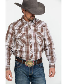 661f4b42f30 Cowboy Hardware Mens Fellow Plaid Long Sleeve Western Shirt