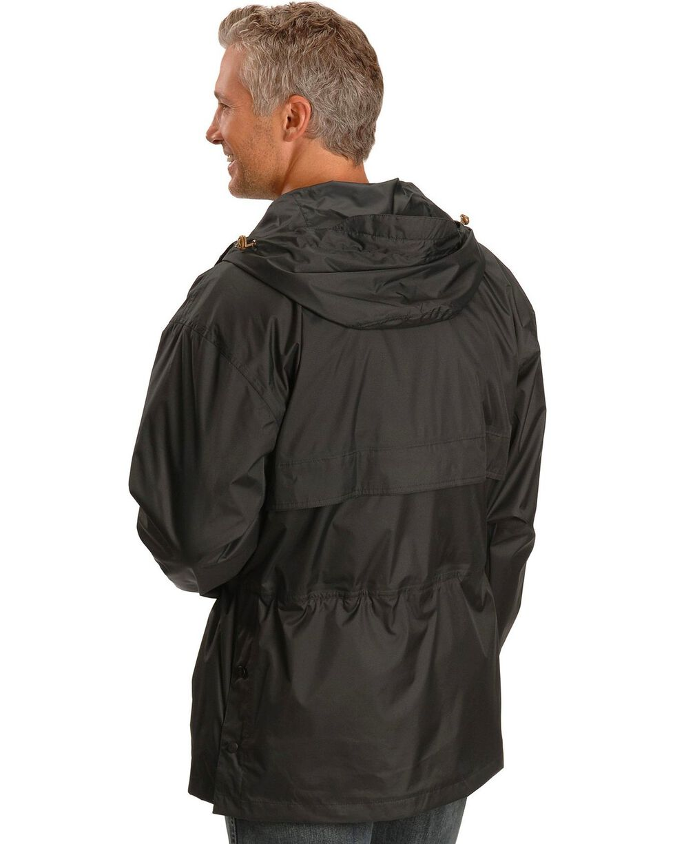 Outback Pak-A-Roo Waterproof Parka, Black, hi-res