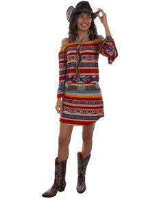 aa40b0da21e Honey Creek by Scully Womens Serape Off Shoulder Long Sleeve Dress