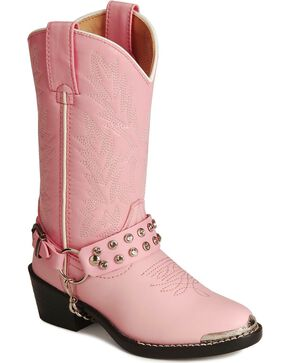 Durango Girls' Harness Boots, Pink, hi-res